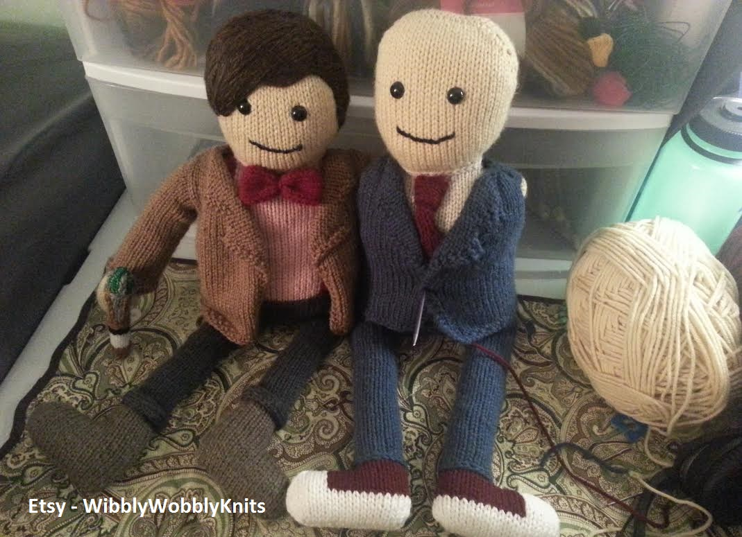 10th Doctor Knit Doll | Wibbly Wobbly Knits